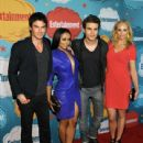 Ian Somerhalder, Kat Graham, Paul Wesley and Candice Accola attend Entertainment Weekly's Comic-Con Celebration at FLOAT at the Hard Rock Cafe in San Diego on July 20,2013