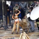 Lais Ribeiro Shooting a commercial for Victoria Secret's upcoming holiday catalog in Aspen - 454 x 376