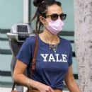 Jordana Brewster – Wears a Yale T-shirt while out shopping in Brentwood - 454 x 603