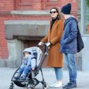 Anne Hathaway with husband Adam – Out in Chelsea in New York City - 454 x 517