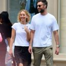 Jennifer Lawrence in Black Skirt out in New York