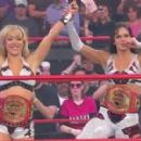 Taylor Wilde and Sarah Stock as TNA Knockout Tag Team Champions