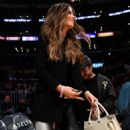 Kate Beckinsale at the Lakers vs Heat game in Los Angeles