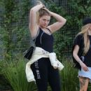 Iskra Lawrence in Tights – Leaves the gym in West Hollywood