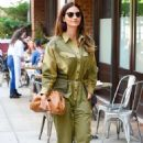 Lily Aldridge in Green Outfit – Out in New York City - 454 x 685