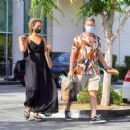 Leona Lewis in Long Black Dress at a health food store in Calabasas - 454 x 422