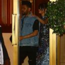 Selena Gomez and The Weeknd Leaving the Sunset Tower hotel in LA - 454 x 681