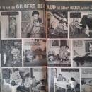 Gilbert Bécaud - Cinemonde Magazine Pictorial [France] (11 October 1956) - 454 x 298