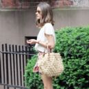 Olivia Palermo: out with brunch with some friends at St Ambroeus restaurant in the West Village