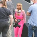 Bebe Rexha – Filming an ad for a new JBL headgear in Los Angeles