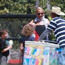 Nicole Richie is spotted taking her children Sparrow and Harlow to the Kidspace Children's Museum in Pasadena, California on July 22, 2015 - 454 x 338
