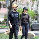 Elizabeth Olsen in Tights with boyfriend Robbie Arnett in Los Angeles - 454 x 568
