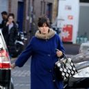 Lily Allen: heads into a recording studio in London