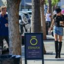Miley Cyrus and Cody Simpson late afternoon coffee drinks at Alfred Coffee in Studio City