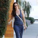 Minka Kelly: leaves the Salon Benjamin in Los Angeles