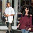 Kim Kardashian Out Shopping With Reggie Bush