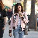 Lucy Hale in jeans shopping at Urban Outfitters in Los Angeles January 28, 2017 - 454 x 804
