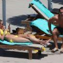 Rhian Sugden in Yellow Bikini in Ibiza - 454 x 291