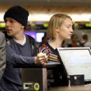 Mia Wasikowska Jesse Eisenberg At Lax Airport In Los Angeles