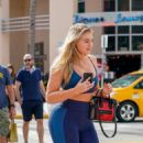 Iskra Lawrence in Leggings – Leaving her workout in Miami
