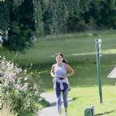 Davina McCall – Jog in a country park in Kent - 454 x 681