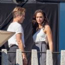 Gal Gadot and Chris Pine  – Filming 'Wonder Woman 1984' in Washington - 454 x 681