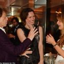 Honky Tonk Women! Mick Jagger proved that despite being 72 years old, he still knew how to work his magic as he chatted with the glamorous Rebecca Hall and Jemima Khan at the 8th Annual Filmmakers Dinner in Cannes on Friday - 454 x 294