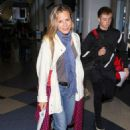 Maria Bello – Arrives at LAX Airport in Los Angeles