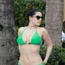 KELLY BROOK in Bikini at a Pool in Miami