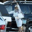 Pamela Anderson shows off her legs in white frock as she goes grocery shopping in Malibu