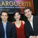 Julian Ovenden (Armand), Ruthie Henshall (Marguerite) and Alexander Hanson (Otto) on stage during a photo call to launch the world premiere of Marguerite, the final production in Jonathan Kent's Theatre Royal Haymarket Season, at the The Pigalle Club, Lon - 454 x 321