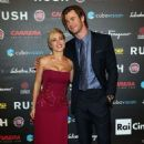 "Chris Hemsworth and Elsa Pataky attending the ""Rush"" premiere in Rome, Italy (September 14)"