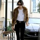 Kendall Jenner is spotted out and about in Beverly Hills, California on October 12, 2016