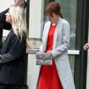 Emma Stone was spotted in New York City leaving her hotel, February 16
