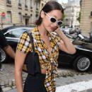Bella Hadid Leaving the four seasons hotel in Paris