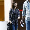 Selena shops with family and Cameron Quiseng on Halloween