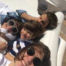 Luciana Gimenez with her sons Lucas Jagger and Lorenzo Fragali and stepdaughter