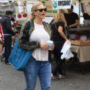 Natasha Henstridge – Shopping at the Farmers Market in Studio City - 454 x 681