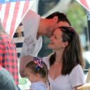 Ben Affleck and Jennifer Garner out with Seraphina and Violet at a local 4th of July parade in Santa Monica, CA (July 4)