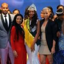 Amber Rose, Boris Kodjoe, and Karlie Redd at the Miss Earth Nigeria 2013 Finale in Lagos, Nigeria - September 23, 2013 - 412 x 600