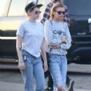 Kristen Stewart and Stella Maxwell at Shape House in Larchmont Village
