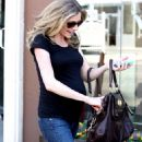 Sarah Chalke In Jeans Leaving Joan's On Third In LA, October 23 2009