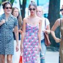 Emily Ratajkowski in Summer Dress – Out with friends in New York City