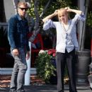 Izabella Scorupco out for lunch in Los Angeles