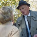 Gretchen Mol as Catherine Caswell with James Rebhorn as Lucian Carver in An American Affair.