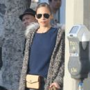 Nicole Richie and Joel Madden out shopping with their dog in West Hollywood, California on December 27, 2013