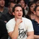 Michael Trevino was spotted at the Lakers vs. the Atlanta Hawks game (February 22)