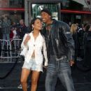Nick Cannon and Christina Milian the Matrix Reloaded - Premiere - Mann Village Theater, Westwood, CA - May 7, 2003 - 344 x 480