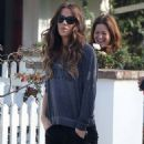 Kate Beckinsale: take her daughter Lily Mo Sheen to a friends house in Pacific Palisades
