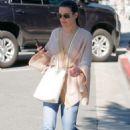 Lea Michele – Leaving XIV Karats, Ltd Jewelry store in Beverly Hills